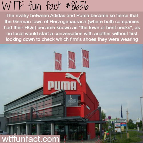 6ce9bf00b3e4 THe rivalry between Adidas and Puma became so fierce at the German town of  Herzogenaurach